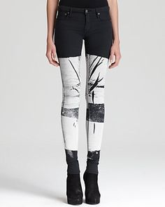 HELMUT Jeans - Bar Print 5 Pocket Skinny | Bloomingdale's