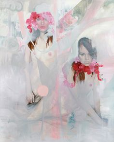 I've posted her before, I'm quite sure...Paintings by artist Jen Mann