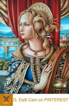Giada Dalli Cani - St Cathrine - Oil paint and gold leaf on MDF board. Mary Magdalene, Expressive Art, Catholic Saints, Sacred Art, Madonna, Line Art, Safari, Medieval, Princess Zelda