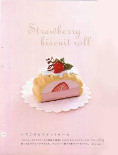 FREE Felt Pattern Ruko Strawberry Biscuit Roll