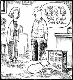 Animal Humour, Animal Antics, Speed Bump Comic, Funny Things, Funny Stuff, Cat Cartoons, Cat Comics, Haha Funny, Comic Strips