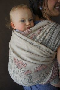 Natibaby Poppies ~ what a beautiful baby wrap
