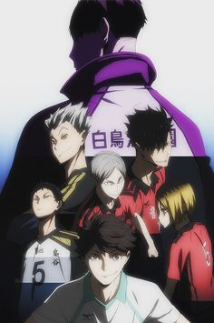 headbandxbowties:  The way this shot in the ending pans up, revealing each character one by one (thus the stripy colour in my merge) reminds me of the ryodan from HxH lol. Classic upcoming villains reveal!