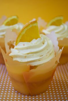 Summer Citrus Cupcakes