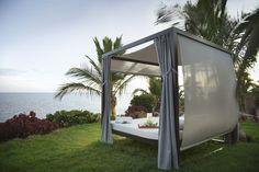 Balinese bed to enjoy the view in the hotel Roca Nivaria #Tenerife #Hotel #Costaadeje #Hotellujo