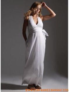 7ed3043b81b Robe pour femme enceinte avec bretelle cou en mousseline ... Wedding Dresses  For Sale