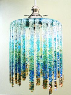 Fused Glass Lamp To learn how to make this lamp see the 2013  summer issue of Glass Patterns Quarterly magazine.