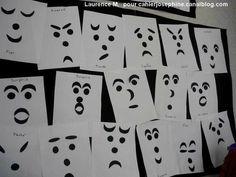 des idées pour travailler les sentiments à travers les expressions faciales