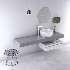 FLAT Countertop by Nuovvo | #minimal #bathroom #design #ideas