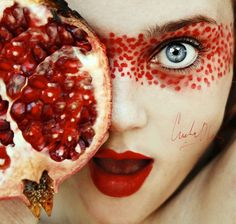 Fruity Self-Portraits by 16-Year-Old Cristina Otero | Bored Panda #red