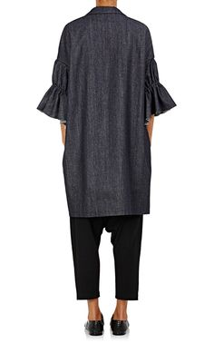 Regulation Yohji Yamamoto Denim Cocoon Coat | Barneys Warehouse