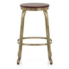 Showcasing our first ever brass finish - the Amp Bar Stool Antique Brass! Also available in copper, black, and white!