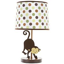 Mod Pod Pop Monkey Lamp #nursery