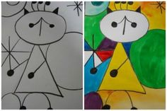 Kids art projects - 10 Awesome Joan Miro Projects for Kids – Kids art projects Classroom Art Projects, Art Classroom, Projects For Kids, Artists For Kids, Art For Kids, Kid Art, Joan Miro Paintings, Artist Project, Art Worksheets