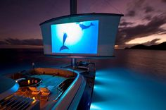 How about a movie on the boat?   Maltese Falcon