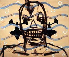 oil on woody board,1997 Toshisato Hagihara