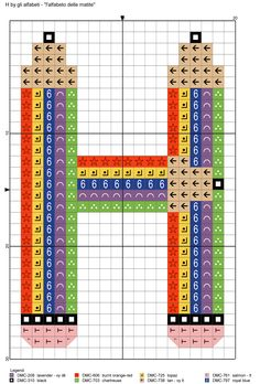 alfabeto delle matite: H