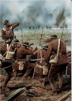 Ww1 History, World History, Military Art, Military History, World War One, First World, Ww1 Art, Ww1 Soldiers, War Image