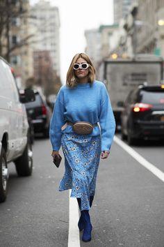 New York Fashion Week Street Style Fall 2018 Day 2 Cont. Street Style Trends, Autumn Street Style, Fashion Week, Look Fashion, Autumn Fashion, Fashion Trends, Street Fashion, Fashion Styles, Streetwear