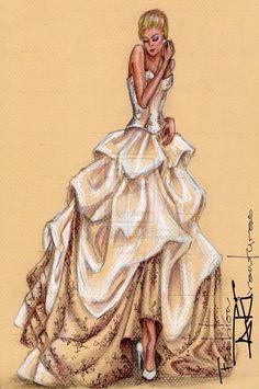 Silk Taffeta Wedding Dress by FashionARTventures
