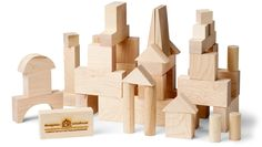 Blocks, Junior Builder, 41 Piece - Maple Landmark