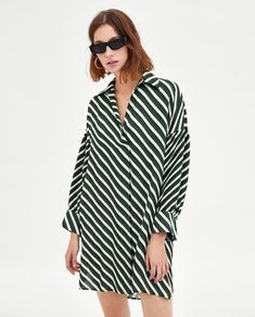 TUNIC WITH CONTRASTING MICRO-PLEATED SLEEVES-View All-TOPS-WOMAN | ZARA United Kingdom