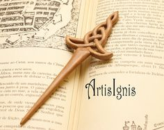 Celtic Sword Hair Stick handcarved in Alder Wood by ArtisIgnis, €25.00