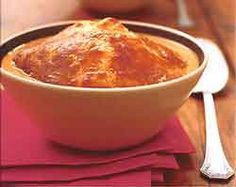 Cream of Tomato Soup with Puff Pastry Crowns