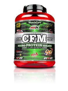 CFM® Nitro Protein Isolate obsahuje Glanbia CFM® - syrovátkový proteinový izolát prvotřídní kvality a peptidy bohaté na Arginin, trávicí enzym proteázu a bakterie střevní mikroflóry. Isolate Protein, Stevia, Pure Products, Food, Essen, Meals, Yemek, Eten
