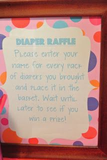 Ready to Pop Baby shower - Diaper Raffle