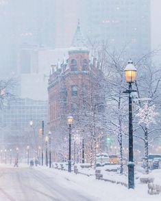 Toronto in the snow.