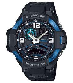 G-Shock Men's Analog-Digital Black Resin Strap Watch 51x52mm GA1000-2B