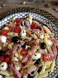 salade de pâtes a l'italienne, rapide et délicieuse