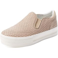 Ash Jungle Embossed Slip-On Sneaker ($135) ❤ liked on Polyvore featuring shoes, sneakers, ash shoes, leather trainers, leather slip on sneakers, snake print shoes and snake skin shoes