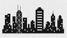 Hong Kong Skyline cross stitch pattern Digital by evolvedxstitch ($3.00)