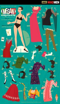 'Mad Men' Downloadable Paper Dolls: Megan Draper