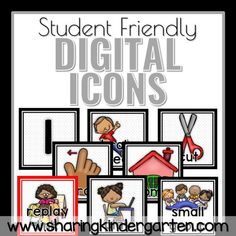 digital learning icons