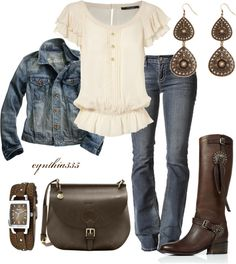 """""""A Little Bit Country"""" by cynthia335 on Polyvore"""