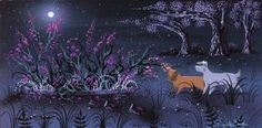 Lady And The Tramp   Concept Painting By Eyvind