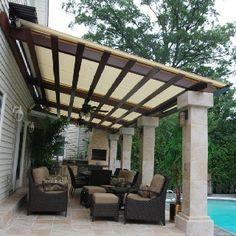 Résultat d'images pour retractable pergola roof diy