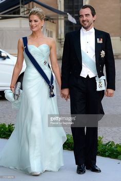 Prince Nikolaos and Princess Tatiana of Greece attend the wedding of Princess Madeleine of Sweden and Christopher O'Neill hosted by King Carl Gustaf XIV and Queen Silvia at The Royal Palace on June 8, 2013 in Stockholm, Sweden.  (Photo by Pascal Le Segretain/Getty Images)
