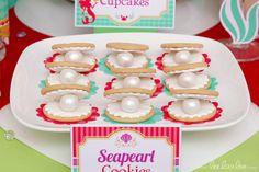 Cookies at a Mermaid Party #mermaid #party