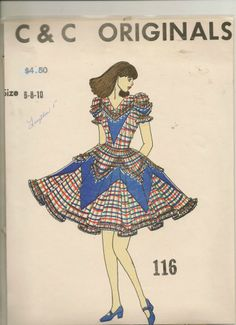 C & C  Originals Square Dance Dress Pattern  sewing pattern No: 116