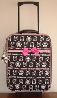 one of my hello kitty suite-cases. bought at kiddy land.
