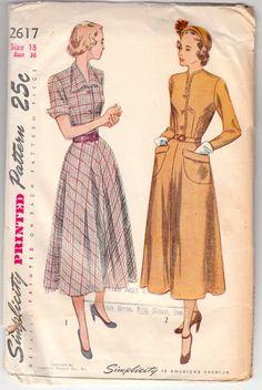 Vintage+Sewing+Pattern+1940's+Ladies'+Dress++by+Mrsdepew+on+Etsy
