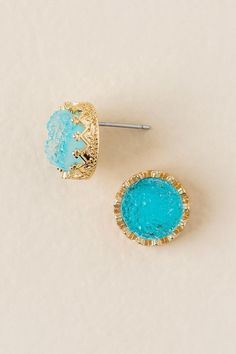 Ming Druzy Stud Earring In Turquoise