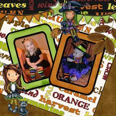 DIGI layout featuring some new Halloween images from @thepapernest @tracywray # layouts #papernestdolls