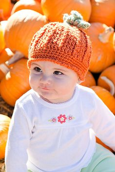 Ravelry: Pumpkin Harvest Hat pattern by Cathy Kurtz Crochet free pattern