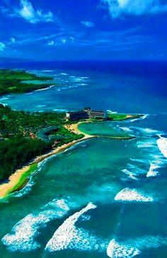 Turtle bay, Oahu's north shore, Hawaii USA