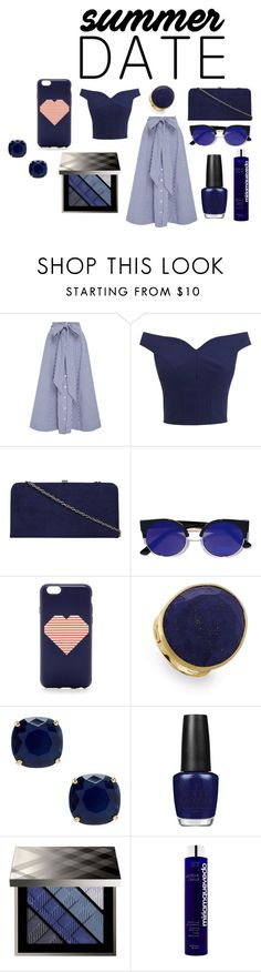 """steal hearts"" by mrudula-26 on Polyvore featuring Lisa Marie Fernandez, Dorothy Perkins, Lulu*s, J.Crew, Marco Bicego, Kate Spade, OPI, Burberry, Miriam Quevedo and beach"